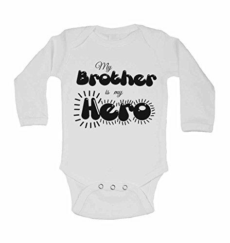 My Brother IS My Hero – personnalisé bébé à manches longues gilets bodies bébé SE Développe pour garçons, filles – Blanc – 2–3 ans