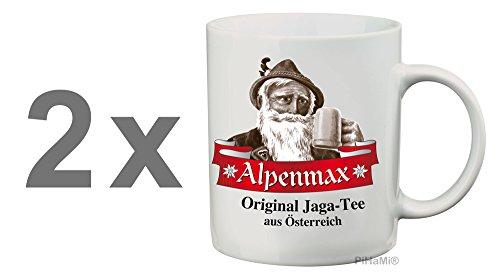 Alpenmax 2 Stück Jaga-Tee Jagertee Tasse 0,25 Liter PiHaMi® Gastro