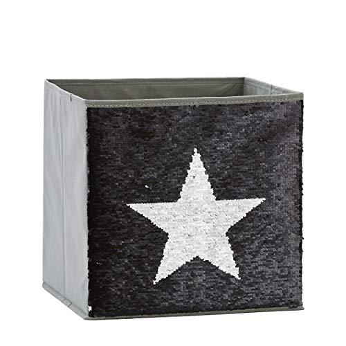 Zauberkiste mit Wendepailetten | Stern | 32x32x32cm |Spielzeugkiste | Aufbewahrungsbox | Kiste | Store It