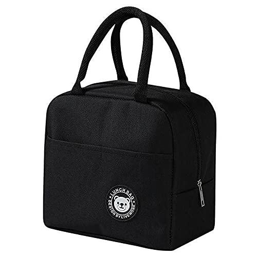 Bolsa de almuerzo portátil, lonchera aislada, bolsa de asas, contenedor de alimentos, bolso reutilizable para oficina, escuela, picnic, entrenamiento, viaje