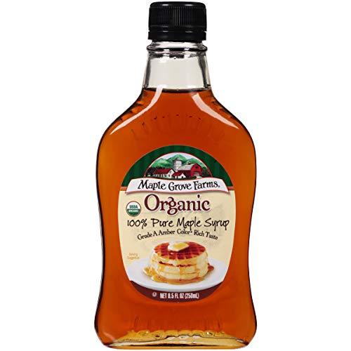 Maple Grove Farms Organic Pure Maple Syrup, Grade A Amber, 8.5 Ounce