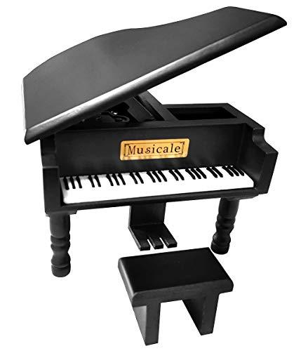 Fontee Carillon Classica Pianoforte in Legno, Meccanismo Portagioie Musicali, Regalo per la Festa della Mamma, Festa del papà, Compleanno, Anniversario di Matrimonio, Natale