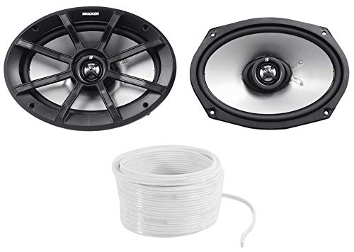 (2) Kicker 40PS694 6x9' 180w Compatible with Polairs/ATV/UTV/RZR Marine Motorcycle Speakers PS69...