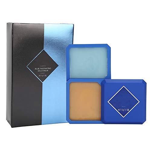 Perfume para hombre Perfume sólido de doble capa Fragancia duradera Perfumes encantadores 5g x 2(Azul)
