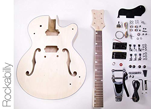 DIY Electric Guitar Kit Hollow Body Build Your Own Guitar Kit - Rockabilly | The Fret Wire