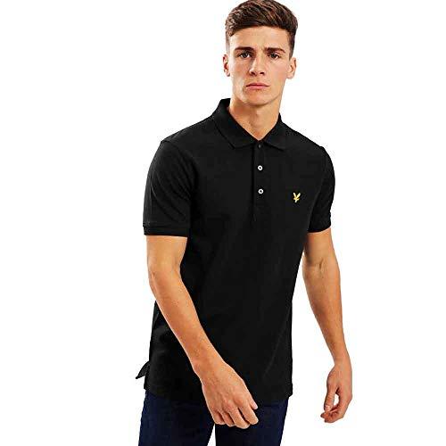 Photo of Lyle and Scott Men Men's Plain Polo Shirt – Cotton – XL Jet Black