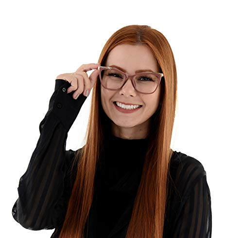 Oculos Grau Feminino La Belle Gatinho Quadrado Rosa Dourado