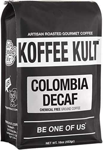 Koffee Kult Colombian Decaf Coffee, Medium Roast, Water Process...