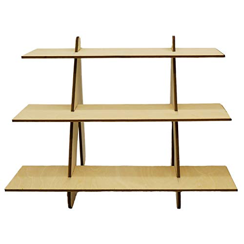 """Azar Displays 701414-BLK Rotating Display Stand - 4-Sided Display Racks for Craft Shows - Peg Display Carousel (14"""" W x 14"""" D x 20"""" H) - Easy Assemble Revolving Display for Retail - Pegboard Organizer"""