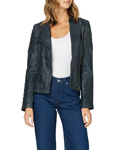 Urban Leather Fashion Lederjacke - Sylvia, Hellgrau, XL