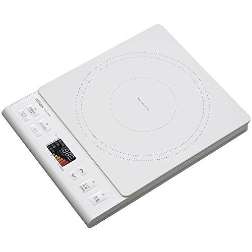 [山善] IH調理器 IHクッキングヒーター 卓上 (1400W) YEJ-L130(W) [メーカー保証1年]