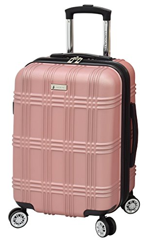 London Fog Kingsbury 21' Spinner Carry-on Luggage, Rose Gold
