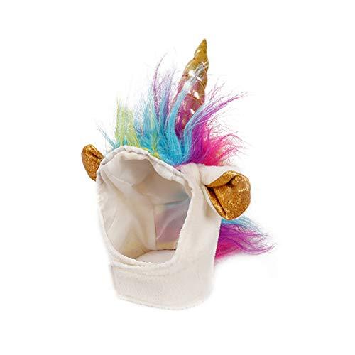 ibasenice Haustier Einhorn Hut für Katzen Kitty Kleinen Hund Welpen Niedlichen Entzückenden Einhorn Kostüm in Halloween Weihnachten Festival Haustier Kostüm Cosplay Zubehör 22-30Cm