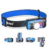 WUBEN H3 LED Stirnlampe Superhell, 360° Drehbar, Mini Leichtgewichts LED Stirnlampen Wasserdicht IPX6 AAA Angetrieben Kopflampe, 7Modi Perfekt fürs Laufen, Joggen, Angeln, Campen, für Kinde