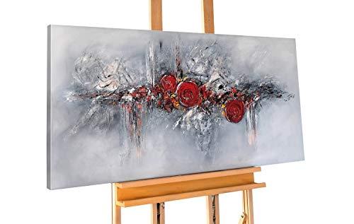 Kunstloft® Cuadro en acrílico 'Pearls and Roses' 120x60cm Pintado a Mano sobre Lienzo