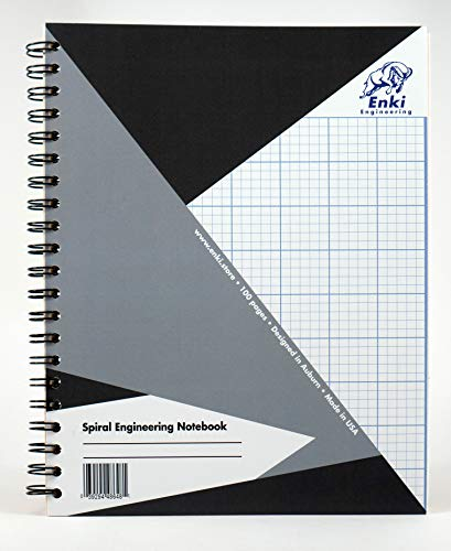 Engineering Paper 200 sheet - Spiral Notebook (Grey Cover)
