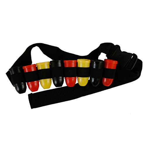 Shot-Gürtel für 8 Kurze Fussball-Fanartikel für Kopf und Körper Deutschland schwarz-rot-gold (Shot-Gürtel)
