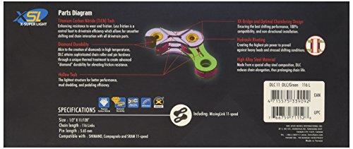 KMC Fahrradkette X11sl Dlc 11-fa, BXSL11GG - 3
