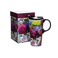 Gifts for Coffee Lovers - Floral Travel Coffee Mug