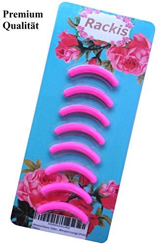 Ersatzgummis für Wimpernzange in Premiumqualität (8er Pack, pink) Abwaschbar und Pflegeleicht für perfekte Wimpern den ganzen Tag, passend für TWEEZERMAN Classic Lash Curler