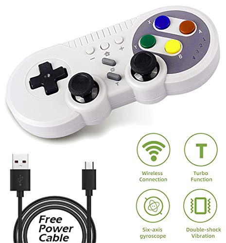 Wireless Controller for Nintendo Switch, AIMOS Classic Style Pro Game Controller Compatibie with Windows PC, Supports Gyro Axis, Turbo and Dual Vibration Function (Gray)