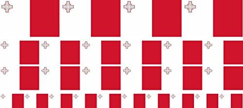 Mini Aufkleber Set - Pack glatt - 4x 51x31mm+ 12x 33x20mm + 10x 20x12mm- Sticker - Malta - Flagge - Banner - Standarte fürs Auto, Büro, zu Hause & die Schule - Set of 26