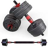 Senshi Japan 30 kg manubri in ghisa manubri Set – Completo di Alta qualità Spin Lock collari e manubri a bilanciere Converter – Perfetto per Sollevamento Pesi, Bodybuilding, Sollevamento Pesi, ECC.