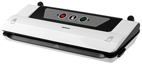 MEDION MD 17620 Vakuumiergerät (ca. 110 Watt, vollautamtisch, Vakuumierdruck bis 0,5 bar, Saugleistung ca. 375mmHg/50kPa, Luftdurchlauf 4,80L/mi) weiß