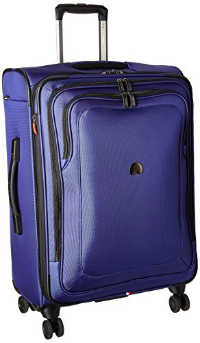 DELSEY Paris Cruise Lite Softside 25' Exp. Spinner Suiter Trolley, BLUE, One Size
