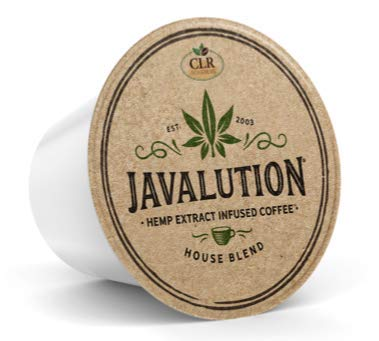 Javalution Hemp Extract Infused Kcup Coffee Pod | House Blend Single Serve| Keurig Compatible | 12 Count