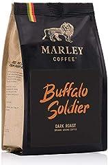 Buffalo Soldier de Marley Coffee, café molido, orgánico bio, tostado oscuro, de la familia de Bob Marley, 227g