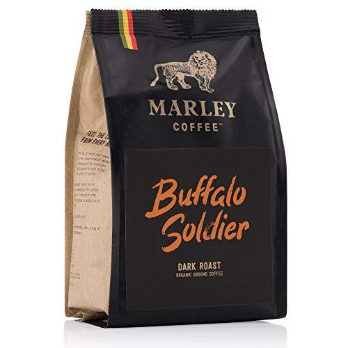 Buffalo Soldier Dunkel gerösteter gemahlener kaffee Bio Organic, Marley Coffee, aus der Familie von Bob Marley, 227g dark roast ground coffee