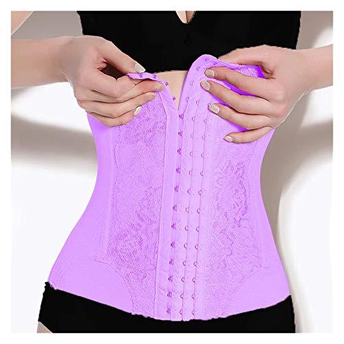 Tiene un efecto obvio sobre la mejora de los senos Cintura Entrenador Corsé Mujer Adelgazante Ropa Interior Cinturón Formadores Cuerpo Shapewear Mujer Corsé Cintura ( Color : Purple , Size : Large )