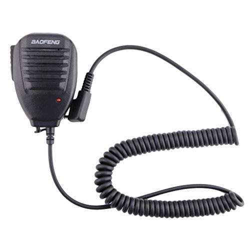 OSHIDE Handfunkgerät Schulter Radio Speaker Hand Microphone Lautsprecher Funkgeräte UV-5R / BF-888S