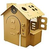 オンリーハウス茶|HOWAY オンリーハウスシリーズ ダンボール製 針が回せる時計玩具付