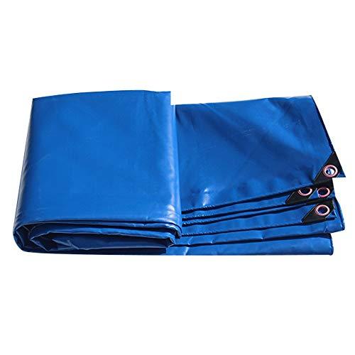 Giow Sonnensegeltuch aus Wachs, strapazierfähig, für Lkw, wasserdicht, UV-Schutz, leicht und intensives Blau, 450 g / m2 (Farbe: Blau, Größe: 3 x 4 m) 5*5m blau