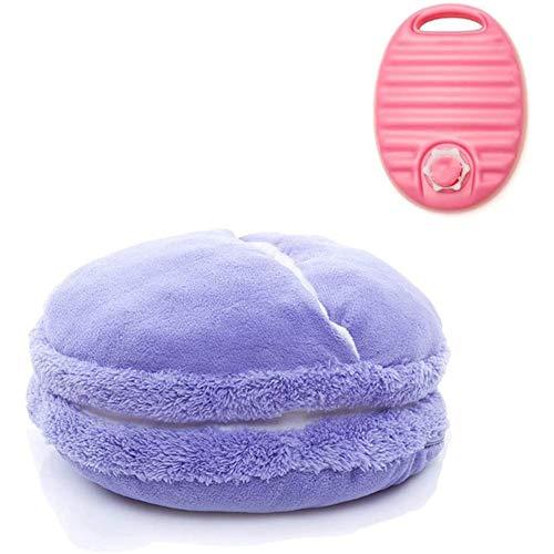 LYYAN Winter Fußwärmer Keinen Strom Waermflasche Wiederverwendbar Tragbar Slipper Fußsack für Heating (Color : Purple)
