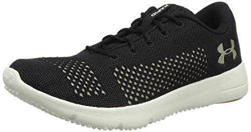Under Armour UA W Rapid, Zapatillas de Running para Mujer, Negro (Black/Ivory/Metallic Faded Gold 004), 38 EU