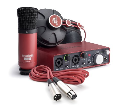 Focusrite Scarlett 2i2 Studio (1st GENERATION) Audio Interface and Recording Bundle