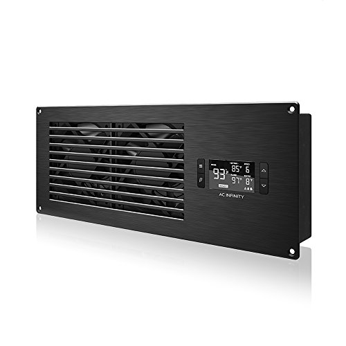 """Price comparison product image AC Infinity AIRFRAME T7 Black,  High-Airflow Cooling Fan System 16"""",  Exhaust Airflow,  for AV Equipment Rooms,  Closets,  and Enclosures"""