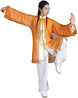 Tai Chi Clothing Women,Men Tai Chi Clothing Women Men Cozy Breathable Tai Chi Uniform Solid Color Loose Polyester Kungfu C...