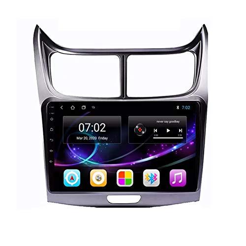 MGYQ 2 DIN Coche Bluetooth GPS Multimedia Car Stereo con Cámara De Visión Trasera Soporte Control del Volante Receptor FM 1080P Video USB AUX In, para Chevrolet Sail 2010-2014,Quad Core,4G WiFi 2+32