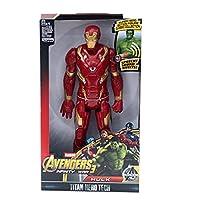 アクションフィギュア スパイダーマンハルクアクションフィギュアブラックパンサータワャキャッテンアメリカThor Iron 30cmスーパーヒーローズ 人形モデル (Color : Ironman NO BOX)