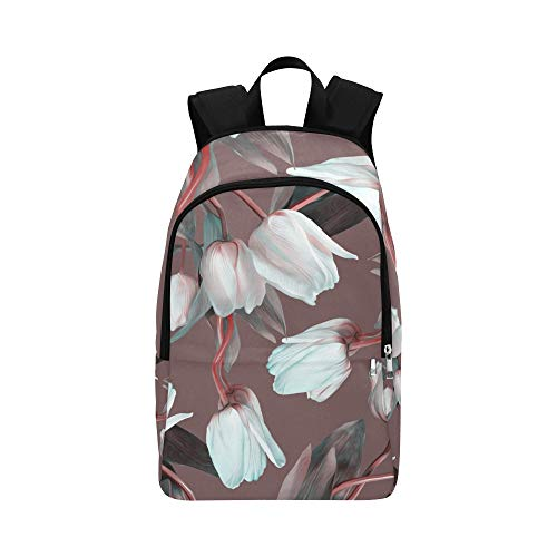 Limiejo Men Casual Bag Cute Retro Ostrich Flower Green Leaf Durable Water Resistant Classic Cooler Bookbag Toddler School Bag Best Backpack Cosmetic Organizer Travel Bag