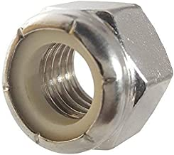 3/8-16 Nylon Insert Hex Lock Nuts, Stainless Steel 18-8, Plain Finish, Quantity 50 by Fastenere