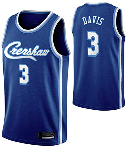 TGSCX 3# Anthony Davis NBA Los Angeles Lakers Men's Basketball Jersey Cómodo/Ligero/Transpirable Bordado Malla Swing Swing Swing Sweatshirt,B,S