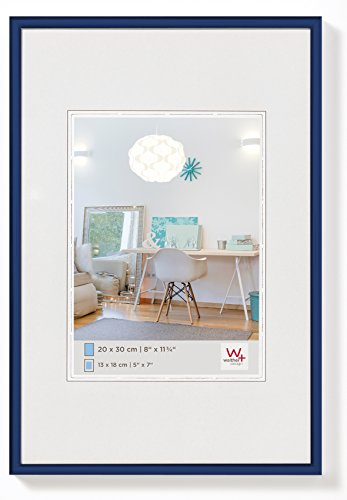 walther design KV080L New Lifestyle Kunststoffrahmen, 60 x 80 cm, blau