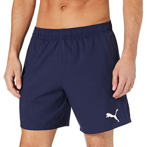 PUMA Mens Men's Mid Shorts Swim Trunks, Navy, M