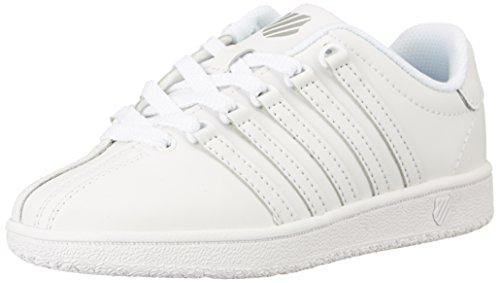 K-Swiss Kid's Classic VN Shoe, White/White, 12 W US Little Kid