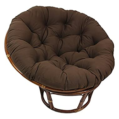 Blazing Needles Solid Twill Papasan Chair Cushion, 52  x 6  x 52 , Chocolate
